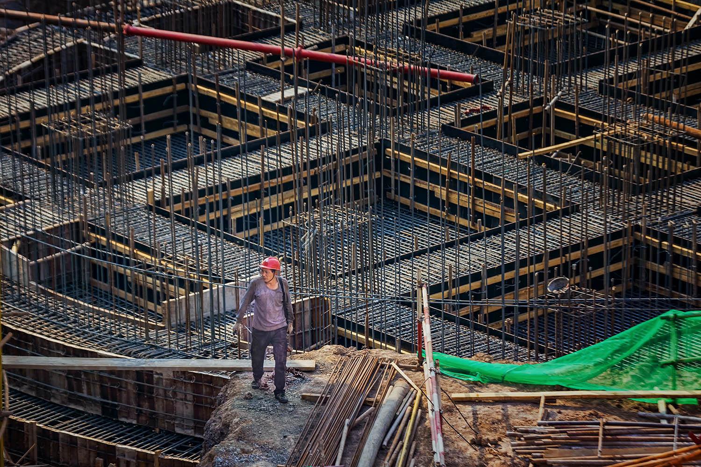 """""""建筑工人的身影"""""""