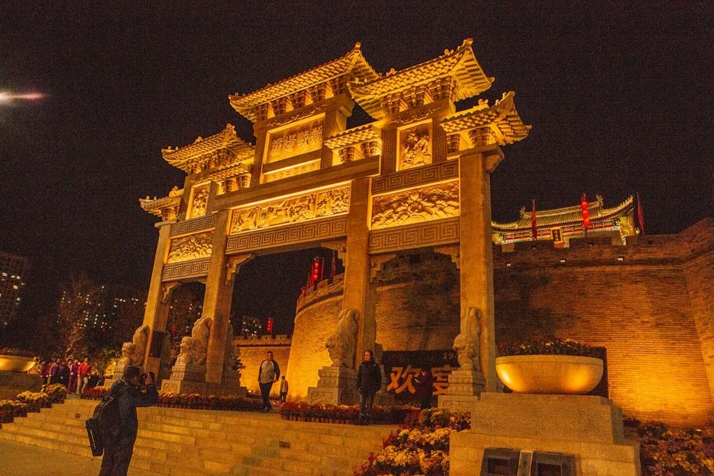 即墨古城夜景